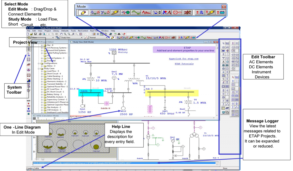 ETAP GUI based User Interface