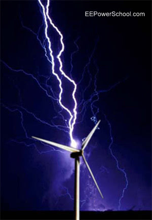 Lighting on wind power plant components