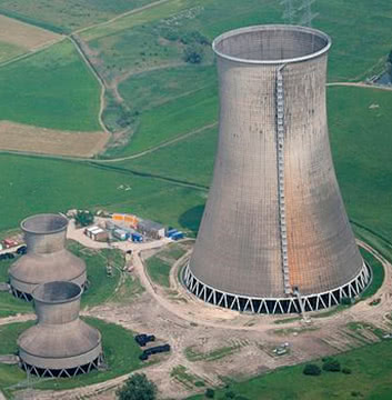 Forced and natural cooling tower for a power plant