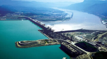 The three Gorges Dam is the world's largest hydroelectric power plant